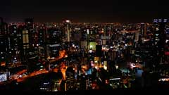 水の都市大阪の夜景を動画で楽しむ!