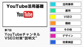 "【YouTube活用基礎】YouTubeのVSEO対策""説明文""について"